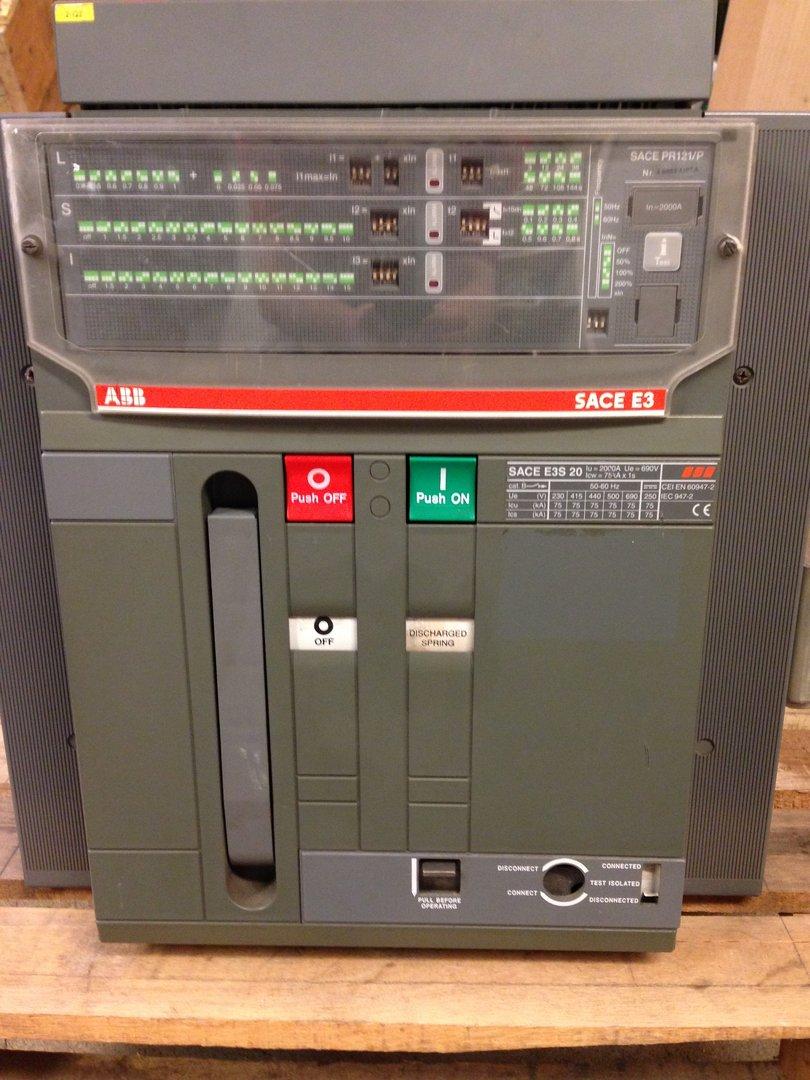 sace_Circuit breaker ABB SACE E3S 20 Iu=2000U withdrawable incl. PR121/P Release unit ...